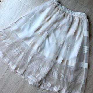 リズリサ(LIZ LISA)の夏のラストセール! LIZLISA (リズリサ) ♡ シースルースカート(ひざ丈スカート)