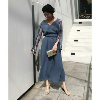 アメリヴィンテージ(Ameri VINTAGE)の☆新品 完売色 AMERI LACE SLEEVE REFINED DRESS(ロングドレス)