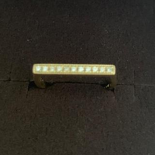イエローゴールド 18K ダイヤ リング 0.1ct D 幸運の青のダイヤ1つ(リング(指輪))