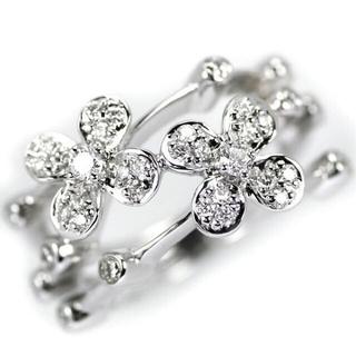 オリジナル(Original)のK18WG ダイヤモンド フラワー リング D0.42ct(リング(指輪))