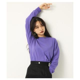 スライ(SLY)のLAGUA GEM ロンT カットソー  パープル 紫(Tシャツ/カットソー(七分/長袖))