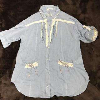 アクシーズファム(axes femme)のデニムシャツ(シャツ/ブラウス(半袖/袖なし))