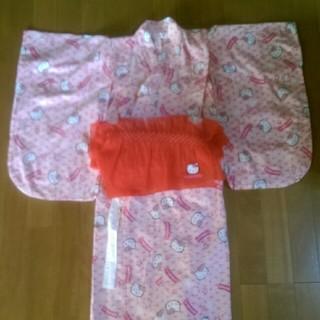 ハローキティ(ハローキティ)のキティちゃん 浴衣セット 120 ピンク色(甚平/浴衣)