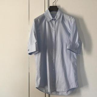 セリーヌ(celine)のセリーヌ シャツ ブルー 36サイズ(シャツ/ブラウス(半袖/袖なし))