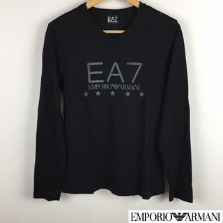 エンポリオアルマーニ(Emporio Armani)の美品 エンポリオアルマーニ 長袖Tシャツ ブラック サイズS(Tシャツ/カットソー(七分/長袖))
