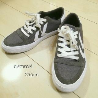 ヒュンメル(hummel)の23.0cm【hummel】グレー(スニーカー)