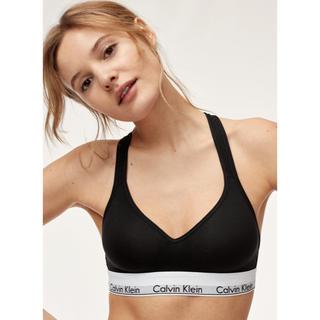 カルバンクライン(Calvin Klein)のカルバンクライン M ブラ インナー 下着 ブラレット パッド カップ ブラック(ブラ)