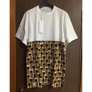 マルニ(Marni)の46新品 MARNI オーバーサイズ Tシャツ 総柄 メンズ(Tシャツ/カットソー(半袖/袖なし))