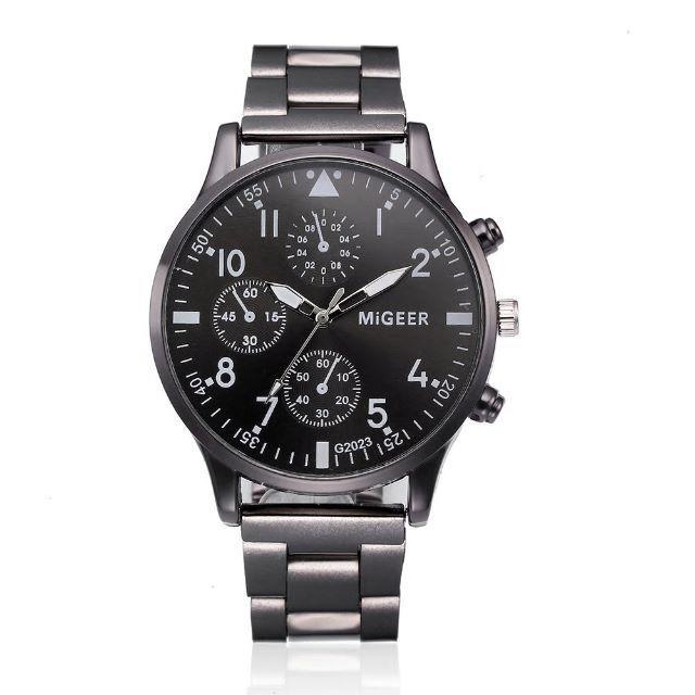 モーリスラクロア 時計 コピー 品 、 【新品・未使用】海外ブランドクォーツ腕時計 MiGEER ガンメタリックブラックの通販 by yossan's shop|ラクマ