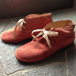 ジエンポリアム(THE EMPORIUM)のカントリー風の靴*オレンジ色*(スニーカー)