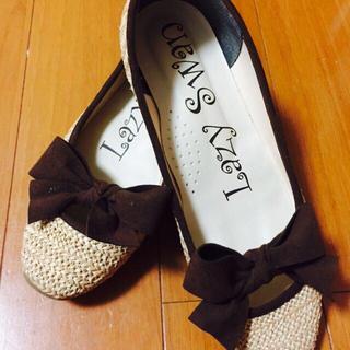 美品♡Lazy swanフラットシューズ レディースの靴/シューズ(サンダル)の