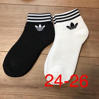 アディダス(adidas)のアディダスオリジナル ソックス 靴下 2足セット 24-26(ソックス)