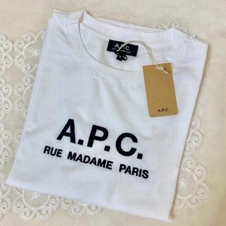 アーペーセー(A.P.C)の新品 APC ロゴ刺繍 Tシャツ Mサイズ(Tシャツ(半袖/袖なし))
