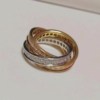 カルティエ(Cartier)のCartier(カルティエ) トリニティリング フルダイヤモンド (リング(指輪))