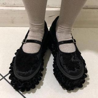 メリージェニー(merry jenny)の最終値下価格!ベロアシューズ(ローファー/革靴)