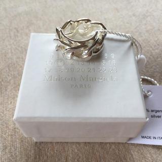 マルタンマルジェラ(Maison Martin Margiela)の19SS新品M マルジェラ シルバー チェーン リング 指輪 今期(リング(指輪))