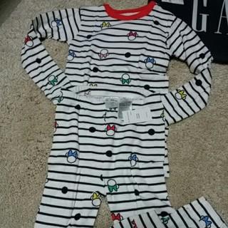 ベビーギャップ(babyGAP)の新品未使用GAPベビーパジャマ女の子ミニーマウンサイズ、110長そで、長ズボン綿(パジャマ)