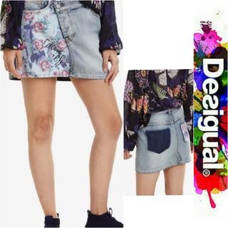 デシグアル(DESIGUAL)のDesigual 2019 ❇️限定品❇️ヴィンテージ風のローズ柄 ミニスカート(ミニスカート)