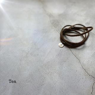 ロンハーマン(Ron Herman)の〔Tea〕No.レザーリボンヘアゴムヘアアクセサリーTOGAmameroku6,(ヘアアクセサリー)