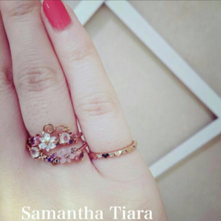 サマンサティアラ(Samantha Tiara)のサマンサティアラ♡プリティエタニティリング2号K18PGダイヤモンド(リング(指輪))