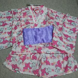 マイメロディ(マイメロディ)の新品 浴衣 セパレート ミニ 甚平 マイメロディ サンリオ(甚平/浴衣)