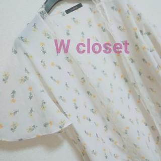 w closet - 送料込み!Wcloset小花柄シアーレースロングガウン羽織り