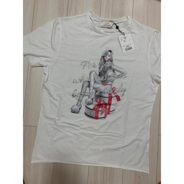 Rady(レディー)のRady プレゼントガールメンズTシャツ メンズのトップス(Tシャツ/カットソー(半袖/袖なし))の商品写真