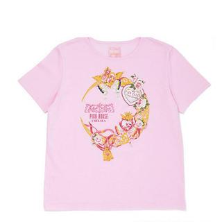 セーラームーン(セーラームーン)のピンクハウス セーラームーン 伊勢丹 コラボ ムーンメイクアップロゼッタTシャツ(Tシャツ(半袖/袖なし))