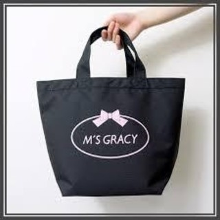 エムズグレイシー(M'S GRACY)の新品未使用 エムズグレイシー トートバッグ エコバッグ保冷保温バッグ付き 黒(トートバッグ)