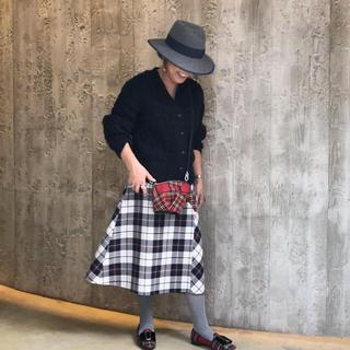 ドゥロワー(Drawer)のDrawer★チェックフレアーラップスカート(ひざ丈スカート)