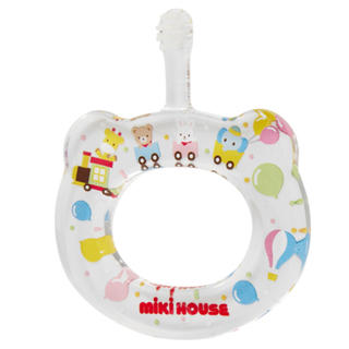ミキハウス(mikihouse)のミキハウス ハミコ マルチカラー 赤ちゃん歯ブラシ プレゼント用(歯ブラシ/歯みがき用品)