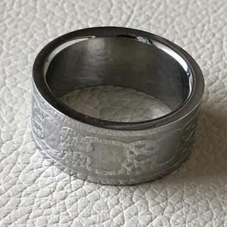 (15)クルクル曲線模様の幅広リング シルバー アンティーク(リング(指輪))