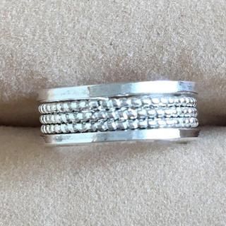 (17)つぶつぶ模様 ピンキーリング  シルバー アンティーク(リング(指輪))