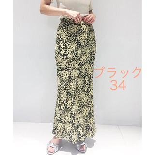 エディットフォールル(EDIT.FOR LULU)のedit for lulu フラワーバイアスマキシスカート★34黒(ロングスカート)