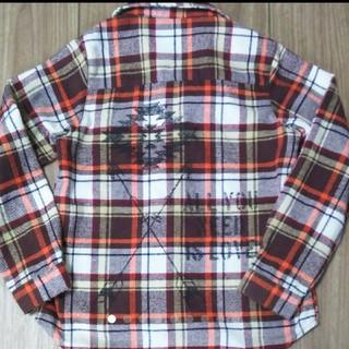 アナップキッズ(ANAP Kids)のネイティブ柄 チェックシャツ ネルシャツ 130(Tシャツ/カットソー)