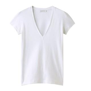 マディソンブルー(MADISONBLUE)の☆今季 新品☆MADISONBLUE マディソンブルー VネックTシャツ 白(Tシャツ(半袖/袖なし))
