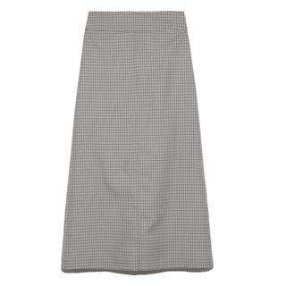 ミラオーウェン(Mila Owen)のチェック台形スカート(ロングスカート)
