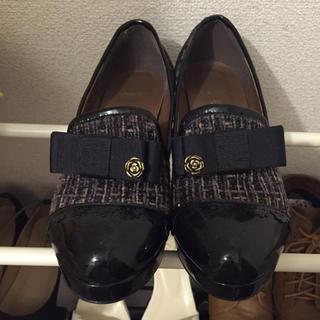 アクシーズファム(axes femme)のツイード素材のパンプス 専用出品(ローファー/革靴)