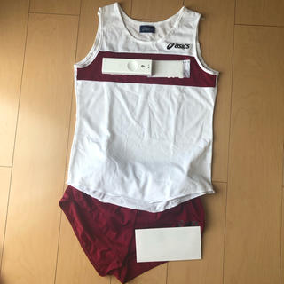 asics - 大学 ユニフォーム  陸上 セパレート ランパン  ランシャツ 女子