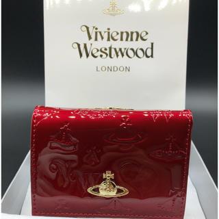 ヴィヴィアンウエストウッド(Vivienne Westwood)の【新品・正規品】ヴィヴィアンウエストウッド 折り財布 がま口 赤 エナメル(財布)