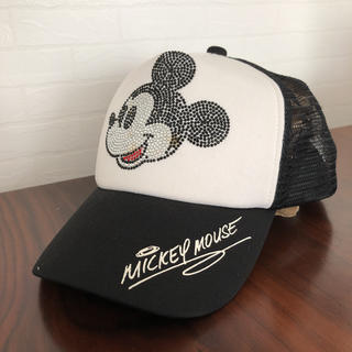 ディズニー(Disney)のしげる 様  専用      Disney Mickey キャップ 黒  美品(キャップ)