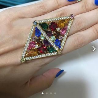 スワロフスキー(SWAROVSKI)のスワロフスキー 指輪 リング おおぶり ビンテージ ひし形 ドレス 着物 振袖(リング(指輪))