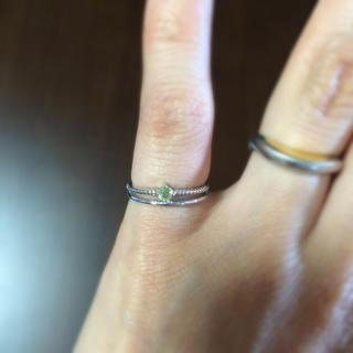 ペリドットのピンキーリング(リング(指輪))