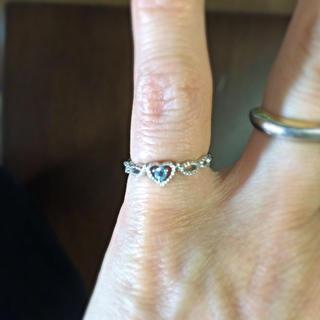 アクアマリンのピンキーリング(リング(指輪))