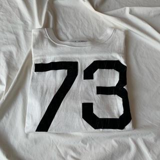 アメリカーナ(AMERICANA)のamericana アメリカーナ フットボール ナンバリング カットソーTシャツ(Tシャツ(長袖/七分))