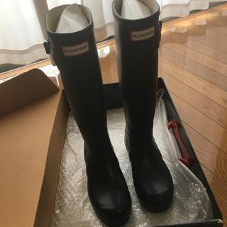 ハンター(HUNTER)のHUNTER ハンター 長靴 黒 23cm UK4(レインブーツ/長靴)