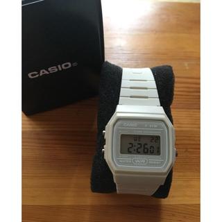 カシオ(CASIO)のcasio f-91wc チープカシオ ヨーロッパ限定カラー ベージュ(腕時計(デジタル))