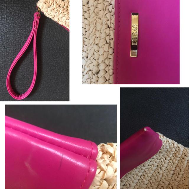 DURAS(デュラス)のDURAS ペーパー鍵編みバイカラークラッチバッグ レディースのバッグ(クラッチバッグ)の商品写真