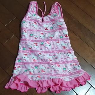 ハローキティ(ハローキティ)のキティちゃん 女の子 水着 ピンク 120(水着)