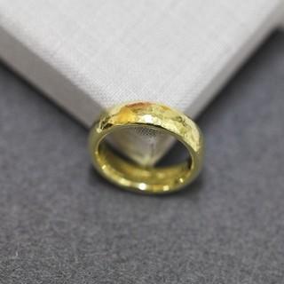 NIESSING ニーシング K18 YG 重厚 ハンマリング イエローゴールド(リング(指輪))